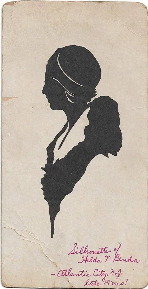 Silhouette of Hilda N Benda - Atlantic City, N.J. late 1920's?